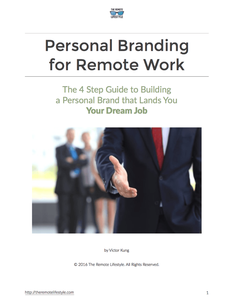 Personal Branding eBook Cover - The Remote Update July 2016