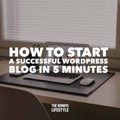 How to Start a WordPress Blog in 5 Minutes | Featured Image