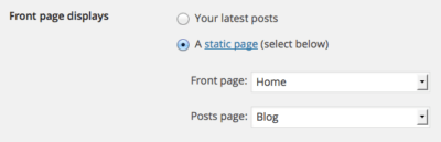Static Front Page Setting | How to Start a Successful WordPress Blog in 5 Minutes